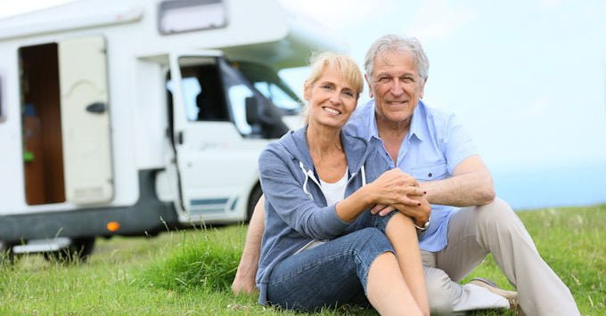 An older couple and their RV